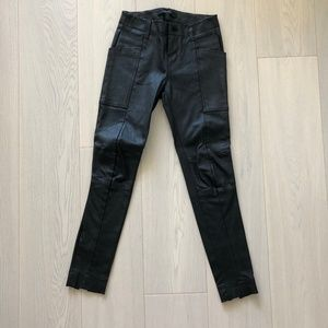 J Brand Black Leather Pants